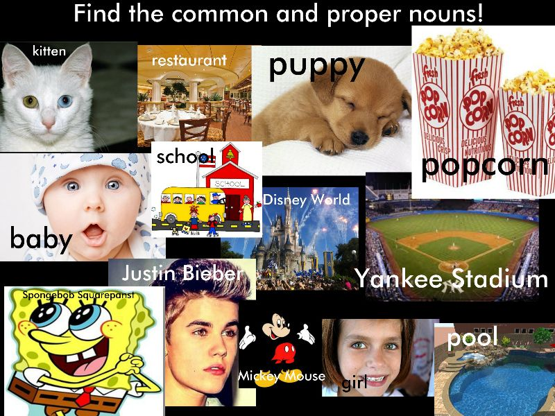 Proper Nouns Common and proper nouns.